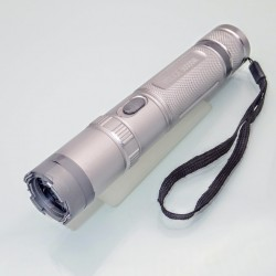 S15.1 Stun Gun + LED Flashlight POLICE 4 in 1 Silver