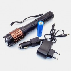 S09 Stun Gun + LED Flashlight + ZOOM + Battery + AC + Car Charger